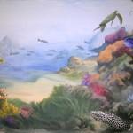Murène dans un paysage sous-marin