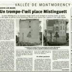 L'Écho Régional. Le trompe-l'oeil de la place Mistinguett à Enghien-les-Bains.