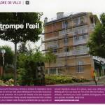 Trompe-l'oeil architectural à Enghien-les-Bains.