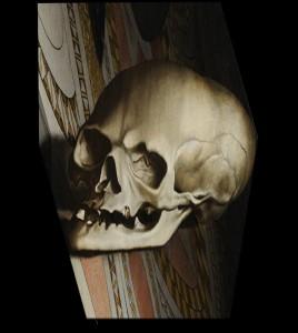 L'anamorphose : la tête de mort