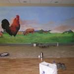 Travail direct sur le support mural. Saint-Mandé