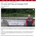 La Dépêche. Road-art à Bagnac-sur-Célé.
