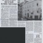Le Quotidien de Paris. Le secret des tailleurs de pierre dans la façade du Théâtre Saint-Georges à Paris. Anamorphose.