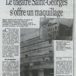 Le Parisien, Anamorphose, trompe-l'oeil, la façade du Théâtre Saint-Georges. Paris.