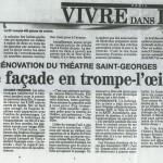 FSP.Une façade en trompe-l'oeil. Théâtre Saint-Georges. Paris.