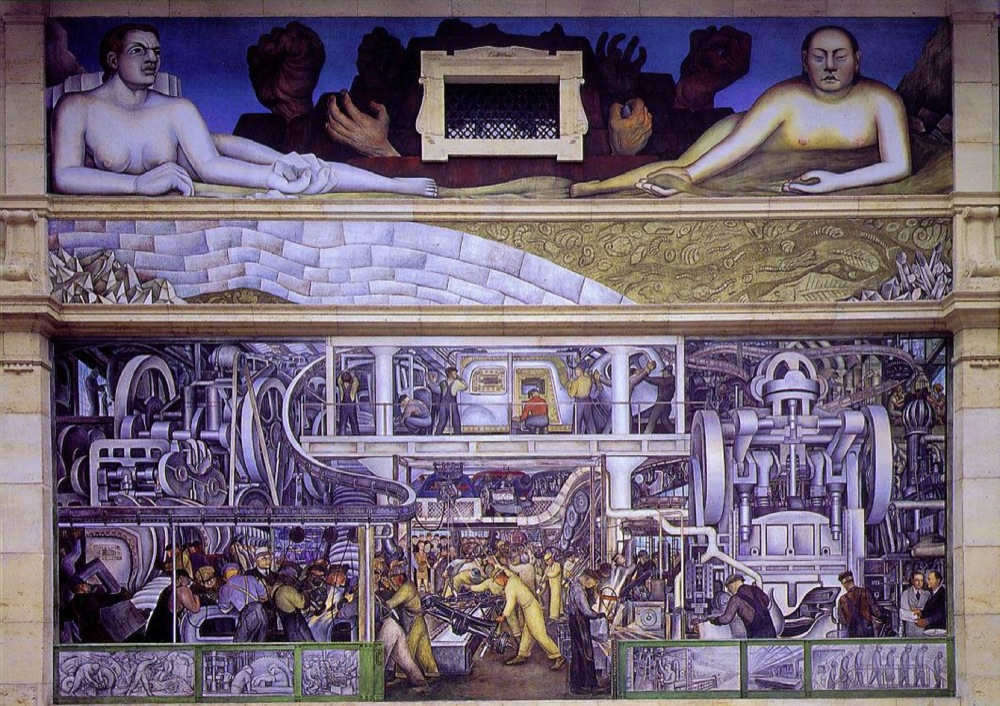 Detroit Industry or Man and Machine, mur sud. 1932-33. Diego Rivera.