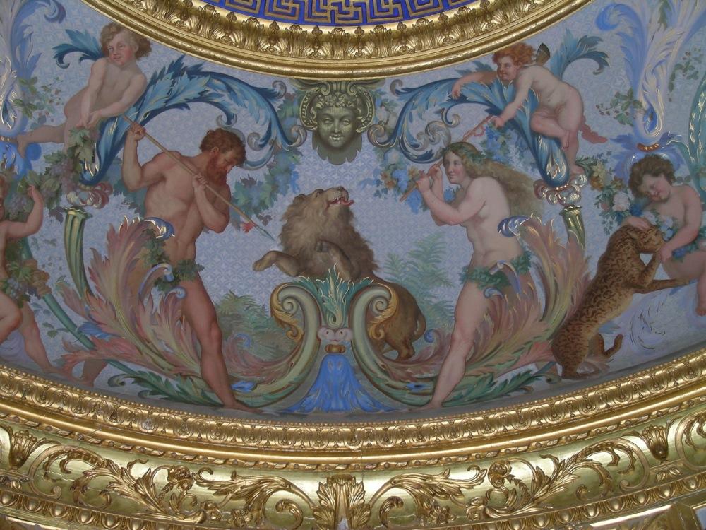 Détail du plafond du cabinet de bains du château de Vaux-le-Vicomte