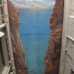 Vue plongeante sur une fresque très verticale. Independent Schools Victoria. Melbourne - Australie
