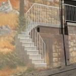 Escalier en anamorphose, vu au bon point de vue...