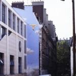 Le funambule de la rue des Islettes à Paris.