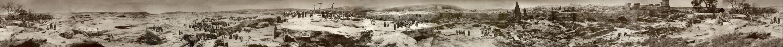 Panorama Jérusalem au temps de la Crucifixion du Christ peint par le peintre allemand Elimar Ulrich Bruno Piglhein (1848-1894)