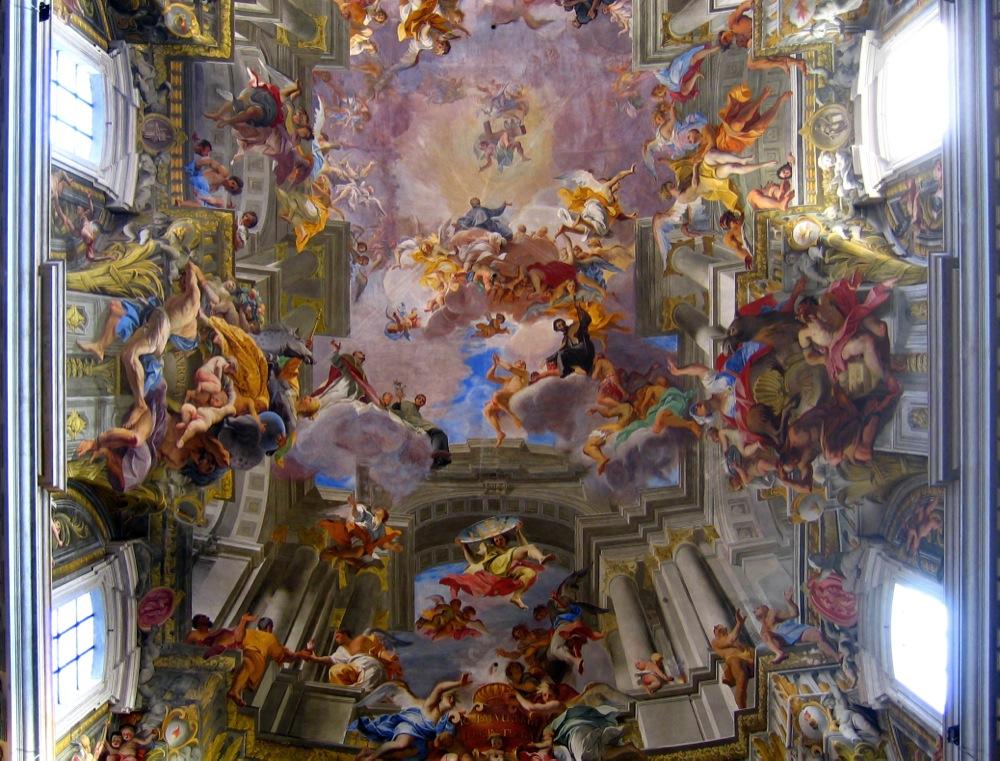 Apothéose de Saint Ignazio. Roma. Par Andrea Pozzo.
