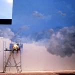 Peintre dans les nuages. Peindre des nuages. Gentilly.