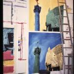 Peintures pour les magasins Monoprix. Paris 12ème.