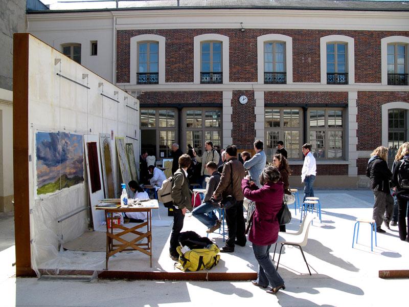 Peinture murale expositions for Salon de versailles 2016