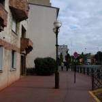 Enghien-les-Bains. Le mur, avant. Décroché dans l'alignement de la rue de Maleville à Enghien-les-Bains