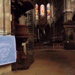 Robert Doisneau dans la nef de Saint-Merri