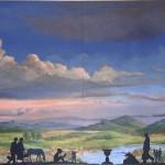 Paysage symbolique, mythique, intemporel. Sherbrooke, Canada