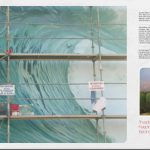 Détail de la grande vague d'Hossegor et paysage-portrait de D. Antony