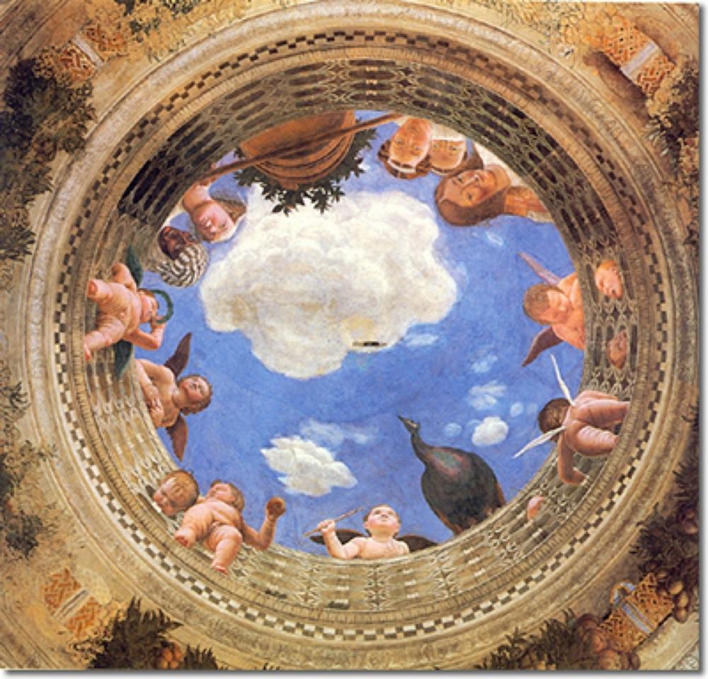 Oculus peint a fresco par Andrea Mantegna