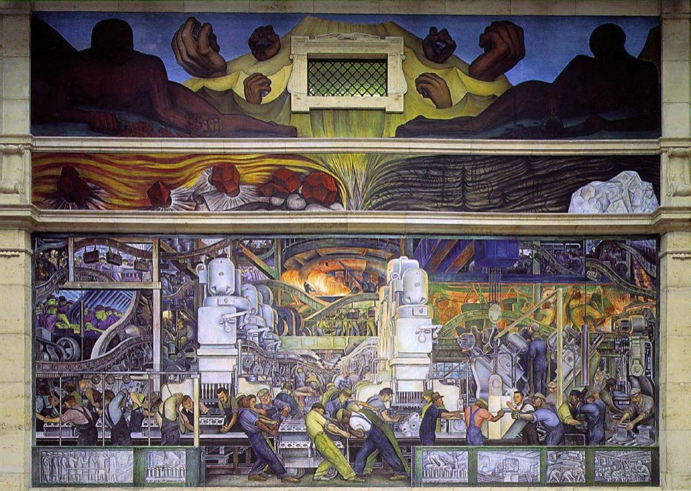 Detroit Industry or Man and Machine, North Wall. 1932-33. Diego Rivera.