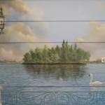 Cygne sur le lac d'Enghien-les-Bains