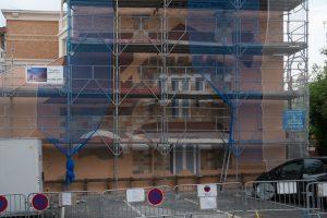 """La perspective s'installe, c'est la """"qudratura"""" fondement du trompe-l'oeil architectural."""